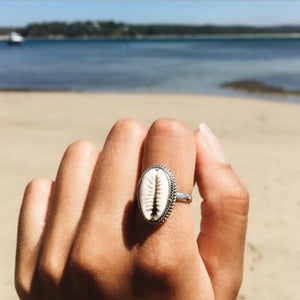 Sea Shell Adjustable Ring