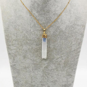 Beautiful Selenite With Blue Kynite Pendant