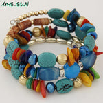 BOHO Natural Stone Beaded Shell Bracelets