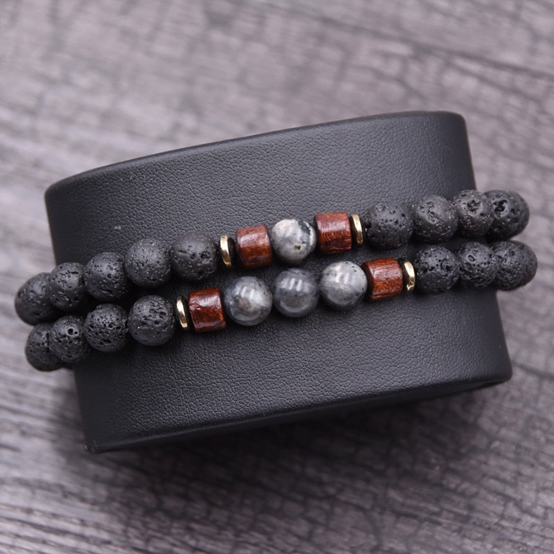 Twin Bracelet Set Natural Stone bracelet (Special)