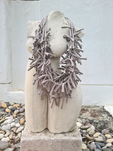 THE  LUJO NECKLACE - TAUPE