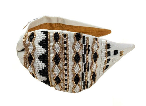 BEADED HEAD BAND AHB033