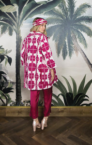 MAXX CANVAS COAT POMEGRANATE