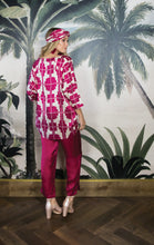 Load image into Gallery viewer, MAXX TUNIC TOP POMEGRANATE