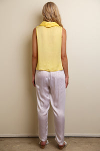 COWL NECK TOP YELLOW