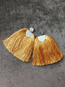 STATEMENT Orange Earrings