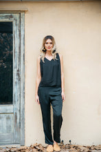 Load image into Gallery viewer, BLACK RAYON TOP