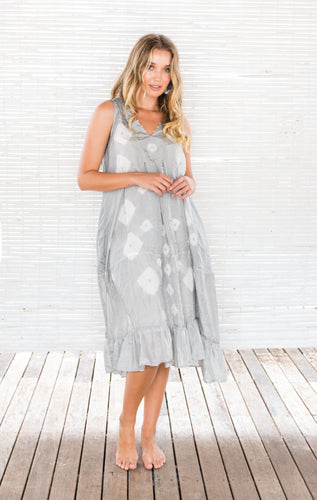 BORI SILK DRESS WITH VOILE SLIP