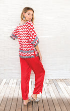 Load image into Gallery viewer, CHEVRON FRINGE BLOUSE