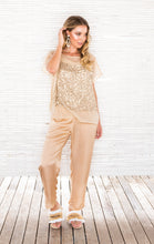Load image into Gallery viewer, GOLD SEQUIN TOP with CAMI