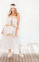 Load image into Gallery viewer, GOLD DOT 3 TIER DRESS