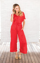 Load image into Gallery viewer, SURI JUMPSUIT RED