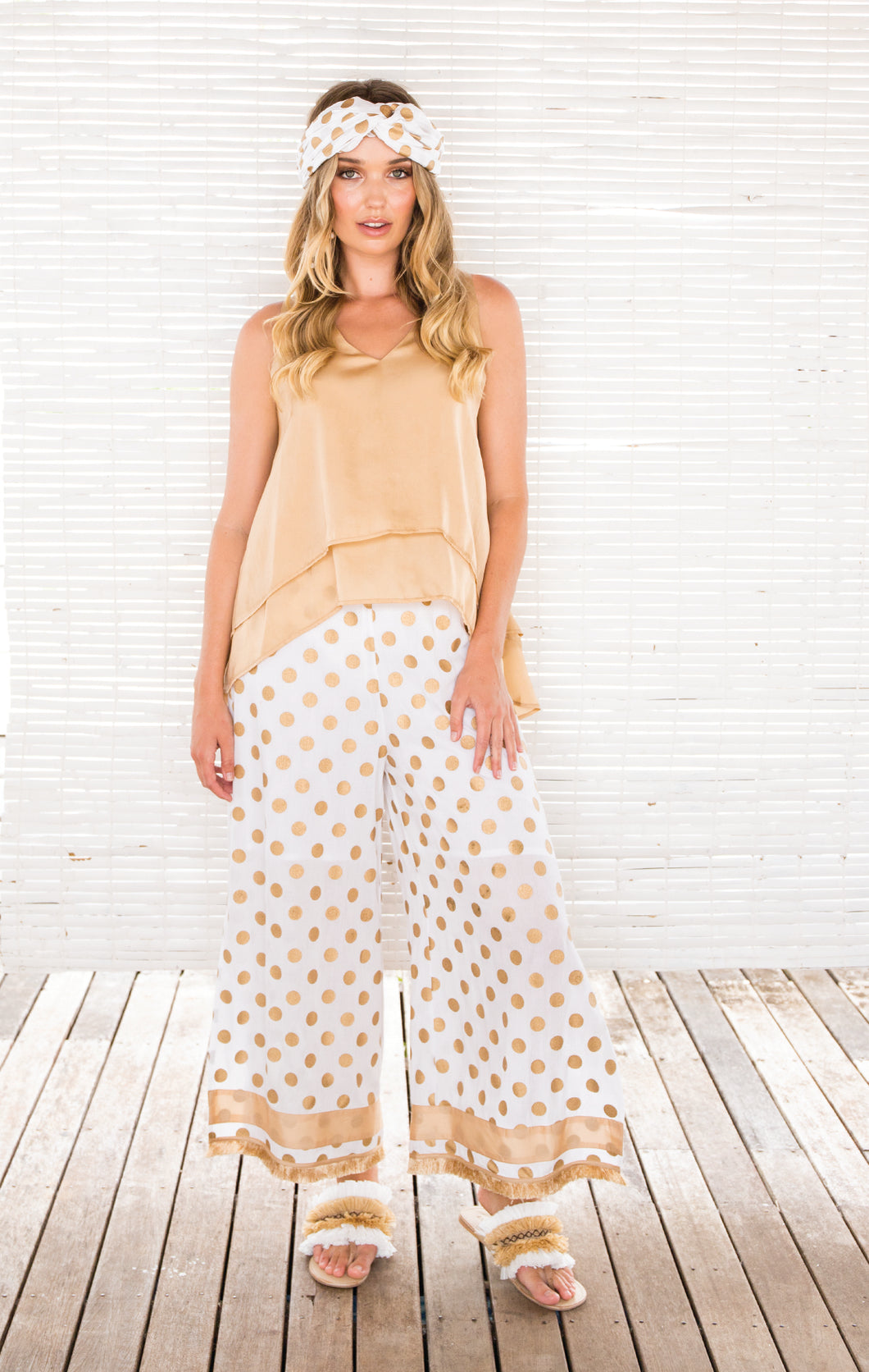 GOLD DOT PANTS
