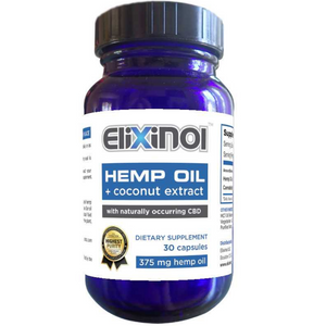 Elixinol Organic Hemp Oil Capsules, Full Spectrum with Coconut Extract - KC Hemp Co.®