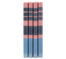 Load image into Gallery viewer, STRIPED OLD ROSE, INDIGO & POMPADOUR CANDLES