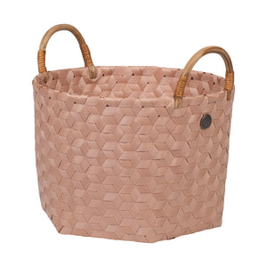 SMALL DIMENSIONAL BASKET  - Blush