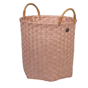 MEDIUM DIMENSIONAL BASKET - Blush