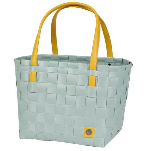 COLOR BLOCK SHOPPER - Duck Egg Blue/Mustard