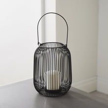 Load image into Gallery viewer, LARGE BLACK WIRE LANTERN