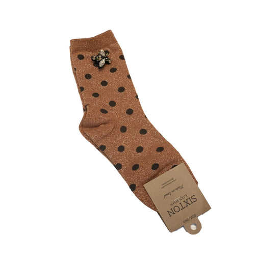 MADRID SOCKS with BEE PIN - Copper
