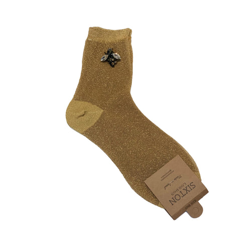 RIO SOCKS with BEE PIN - Gold