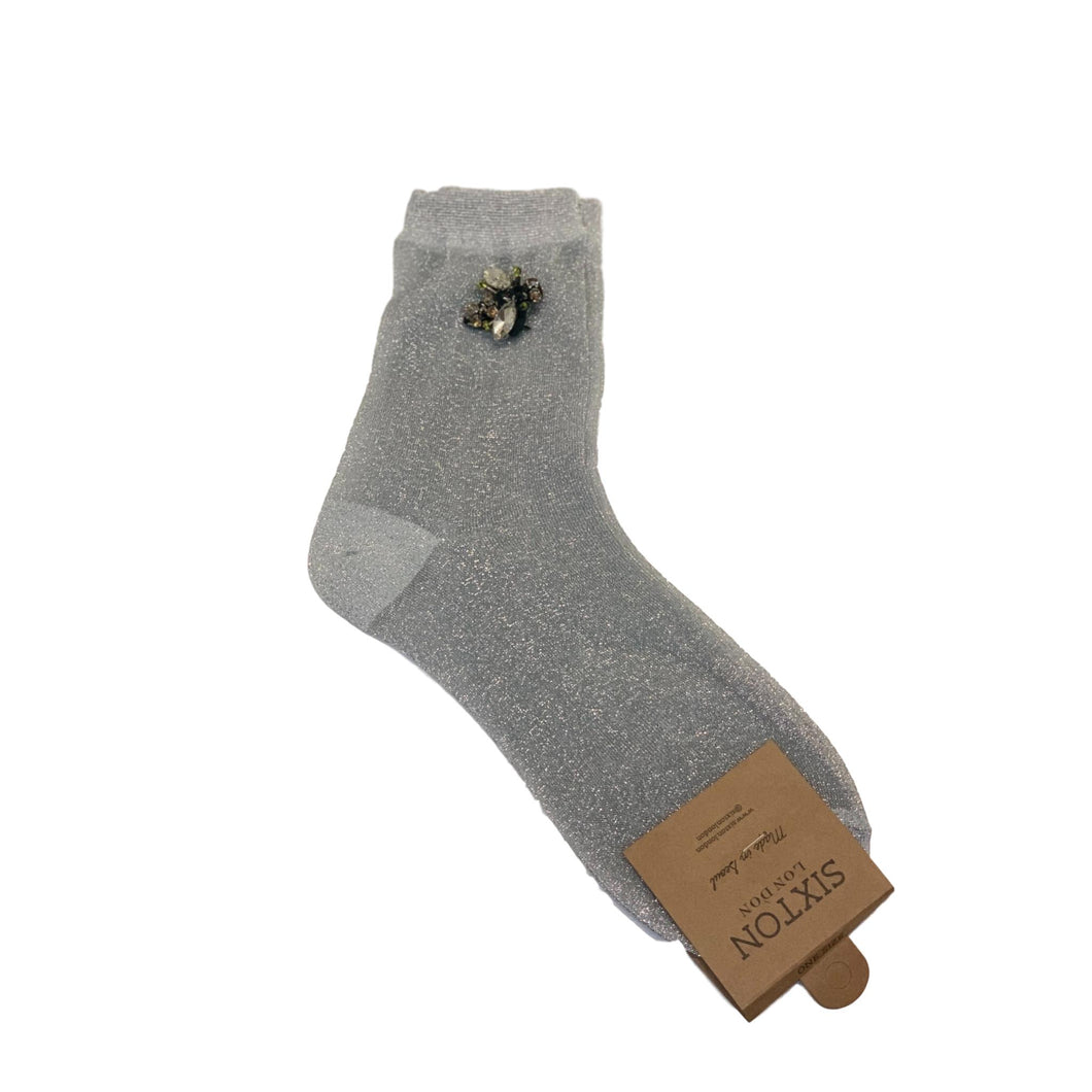 RIO SOCKS with BEE PIN - Silver