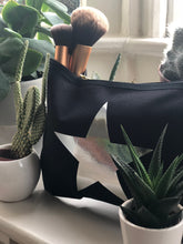 Load image into Gallery viewer, BLACK MAKE UP BAG with SILVER STAR