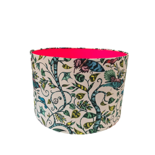 BIRDS OF PARADISE LAMPSHADE with PINK