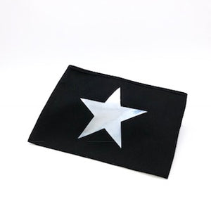BLACK MAKE UP BAG with SILVER STAR