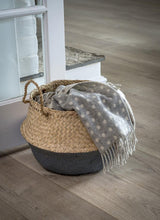 Load image into Gallery viewer, DARK GREY DIPPED SEAGRASS BASKET
