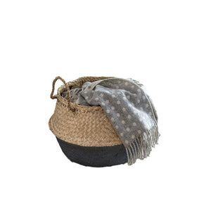 DARK GREY DIPPED SEAGRASS BASKET