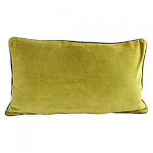VELVET BREAKFAST CUSHION - MOSS GREEN