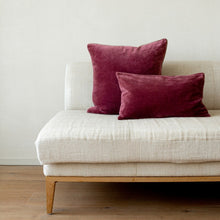 Load image into Gallery viewer, VELVET CUSHION - POMEGRANATE