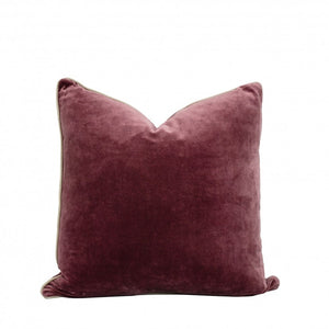 VELVET CUSHION - POMEGRANATE