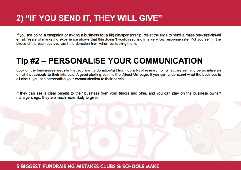 Fundraising Mistake #2: 'If You Send It, They Will Give'