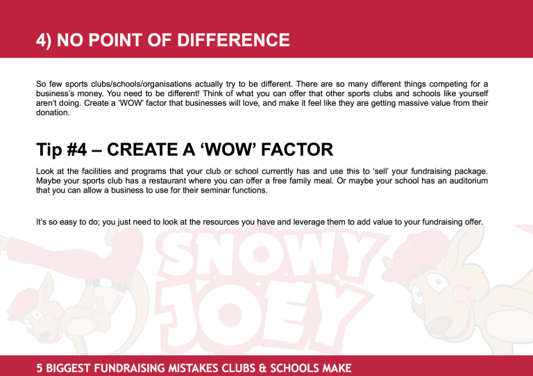 Fundraising Mistake #4: No Point Of Difference