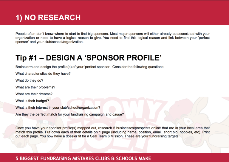 Fundraising Mistake #1: No Research