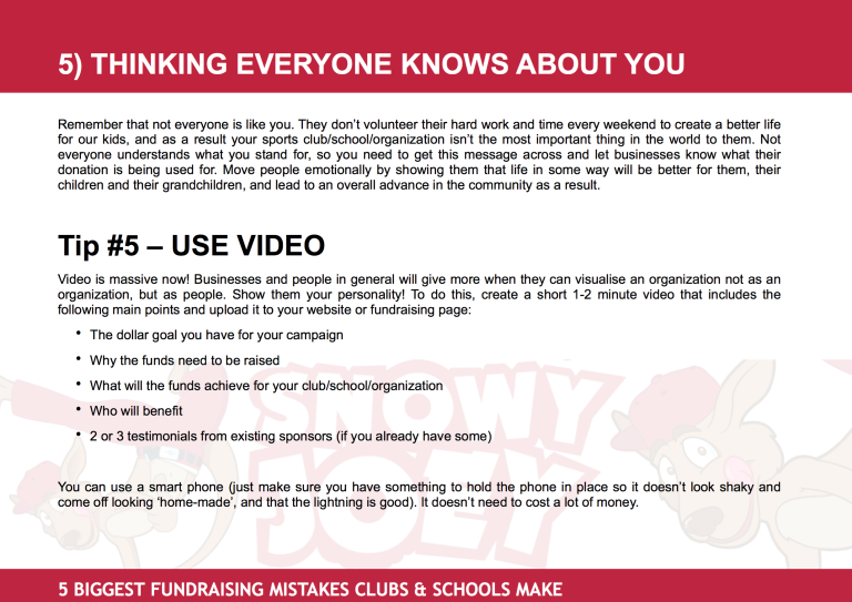 Fundraising Mistake #5: Thinking Everyone Knows About You