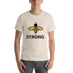 BEE TEES: Bee Strong Short-Sleeve Unisex T-Shirt
