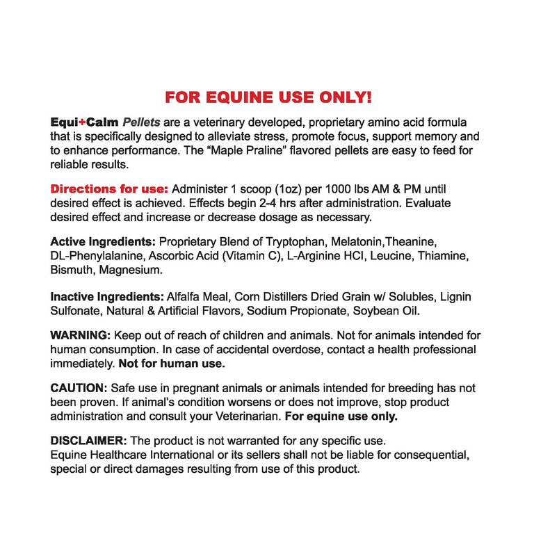 Equi+Calm Pellets 2lb
