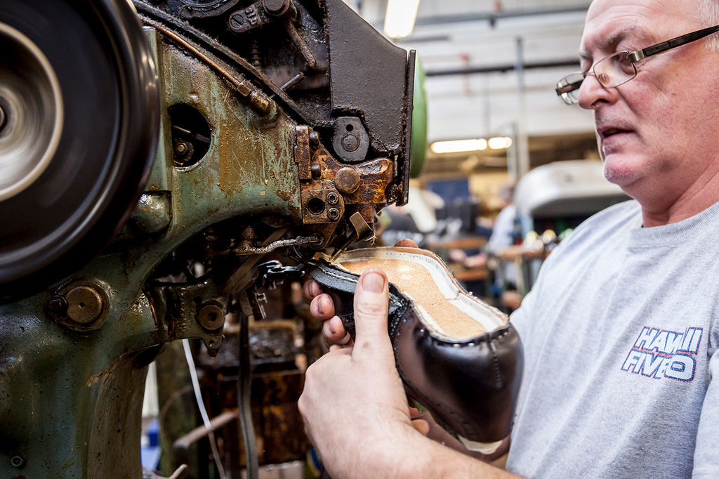 The shoemaking process in Northampton
