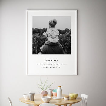 Personalised Print Father's Day Gift