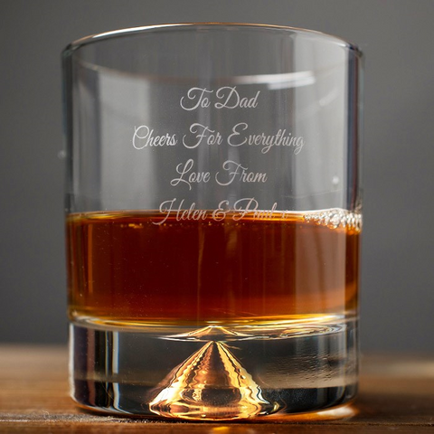 Father's Day Gift Engraved Whisky Glass