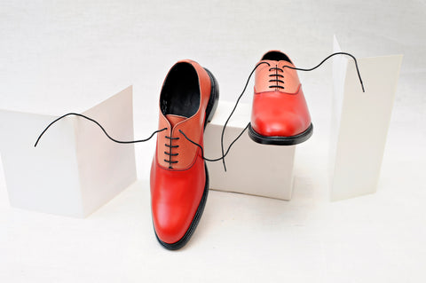 Red Oxford Shoes For Men UK