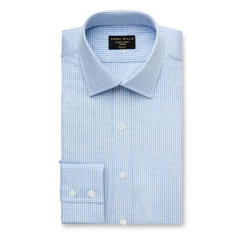 Emma Willis Blue Check Men's Shirt