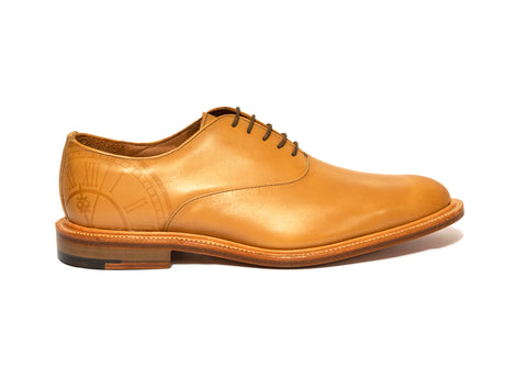 Acorn Brown Leather Oxford Shoes For Men