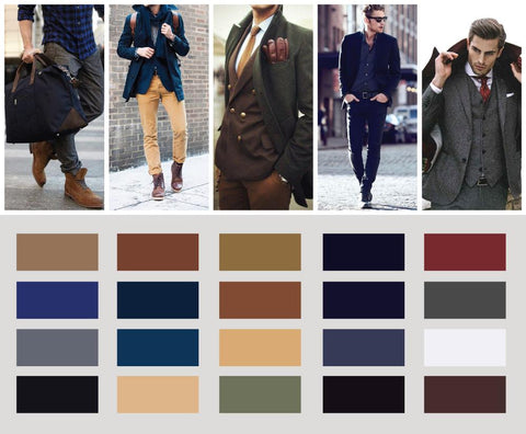 Men's clothing colour combinations
