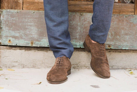 Men's suede shoes cleaning guide