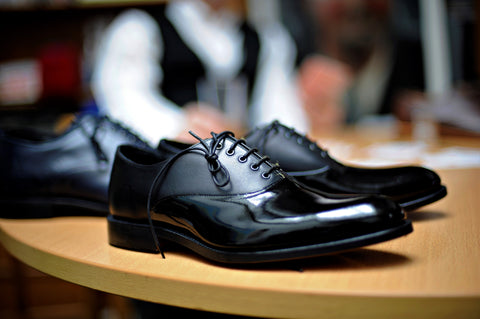 Shoes that are attractive on guys - Oxford Black patent shoes
