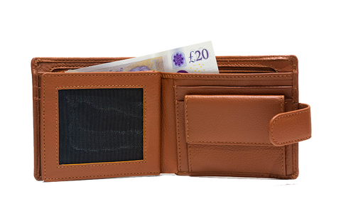 Men's leather wallet made in Britain